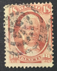 MOMEN: US STAMPS HAWAII #34 USED $38 LOT #44824