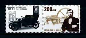 [100221] Guinea 2002 Classic Cars 1911 Rolls Royce Silver Ghost  MNH