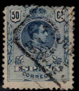 Spain Scott 305 Used 50c Alfonso XIII stamp