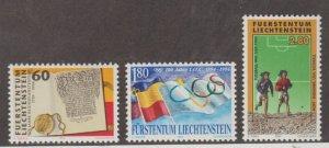 Liechtenstein Scott #1019-1020-1021 Stamps - Mint NH Set