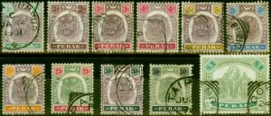 Perak 1895-98 Set of 11 SG66-76 Good Used