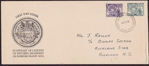 NORFOLK ISLAND 1956 Pitcairners commem FDC.................................67738