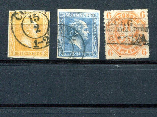 Prussia #8,12,16 Used VF  - LSP