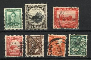 New Zealand  164,185,186,188,190,193,227A used  PD
