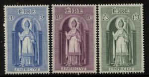 Ireland 1961 St Patrick set Sc# 179-81 NH