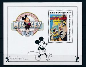 [35951] Bhutan 1989 Disney Mickey Mouse Movie Ye olden days MNH Sheet