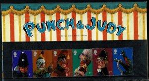 G.B.QE II 2001 PUNCH & JUDY SHOW PUPPETS MINT (NH) SG2224-29 P.O.PACK 326 SUPERB