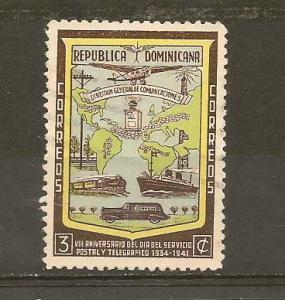 DOMINICAN REPUBLIC STAMPS-VFU TRANSPORTATION  1942-# WA 82
