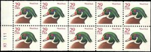 US - 2485a - MNH - Booklet Pane of 10 - SCV-6.00