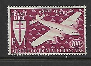 FRENCH WEST AFRICA C3  MINT HINGED MOTOR PLANE