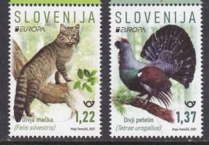 Slovenia, Fauna, Birds, Animals, EUROPA MNH / 2021