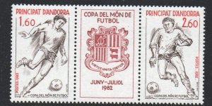 Andora (Fr) Sc 297a 1982  World Cup stamp pair mint NH
