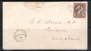 Canada #27ii Very Fine Used On Cover To Rhode Island **With Certificate**