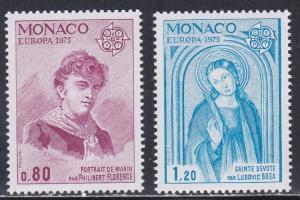 Monaco # 961-962, Europa - Paintings, NH, 1/2 Cat.