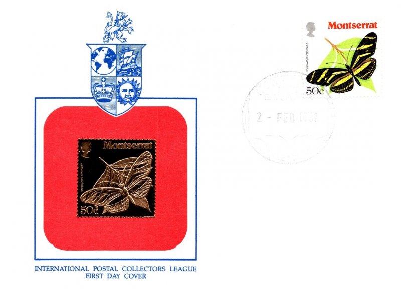 Montserrat, Butterflies, Worldwide First Day Cover