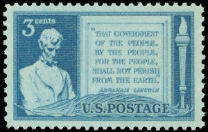 SCOTT #978 FOUR CENT LINCOLN SINGLE MINT NEVER HINGED FREE SHIPPING !!