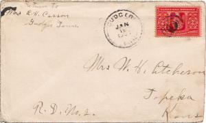 United States Tennessee Gudger 1905 target  1882-1916  2c Louisiana Purchase.