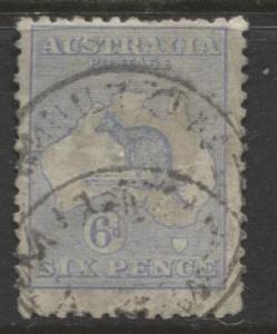 Australia - Scott 48 - Kangaroo -1915 - FU - Wmk 10 - Die II - 6d Stamp