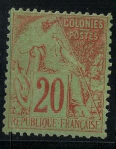 French Colonies 1881 SC 52 Mint SCV $53.00