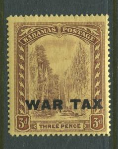 Bahamas -Scott MR9 - Queens Staircase War Tax -1918 - MLH - Single 3p Stamp