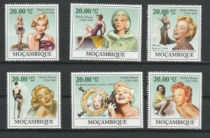 Mozambique MNH Set Marilyn Monroe 2009