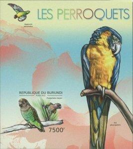 Burundi MNH S/S Parrots Birds 2012