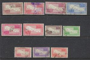 Nepal 72-82 Used 1954 part set missing HV (ap7616)