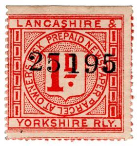 (I.B) Lancashire & Yorkshire Railway : Prepaid Newspaper Parcel 1d