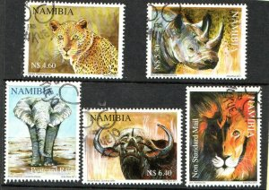 2011   NAMIBIA  -  SG: 1161/65 - THE BIG FIVE  -  USED
