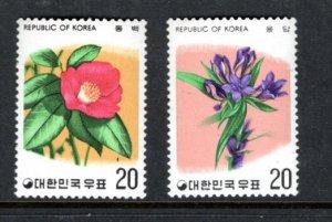 KOREA 592-3 MNH VF Flowers