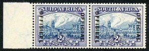 SOUTH AFRICA SGO23 Official 1935 2d blue and violet SUID-AFRIKA hyphenated U/M