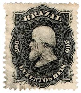 (I.B) Brazil Postal : Definitive Head 200r