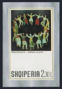 Albania 1465,MNH.Michel Bl.46. Paintings,1972.Folk Dance,by Abdurrahim Buza.