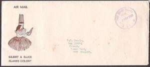 GILBERT & ELLICE 1969 cover to NZ POST OFFICE TARAWA PAID cds..............37329
