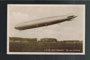 1931 Germany Graf Zeppelin RPPC postcard Cover to USA LZ 127 # C35 Munster Flt
