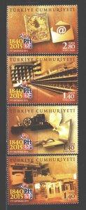 Turkey. 2015. 4210-13. 175 years of mail. MNH.