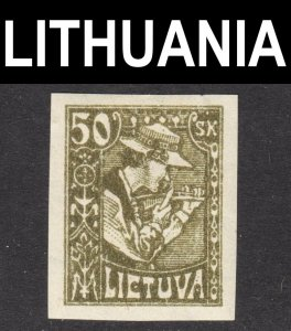 Lithuania Scott 102a IMPERFORATED VF mint OG H.
