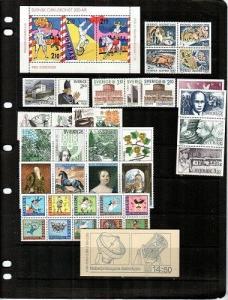 Sweden Scott 1623-1665a Mint NH (Catalog Value $70.90) - 1987 Year Set
