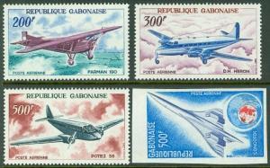 GABON : 1967-75. Scott #C50-52, C172 Airplanes. VF MNH. #C172 Scarce Imperf