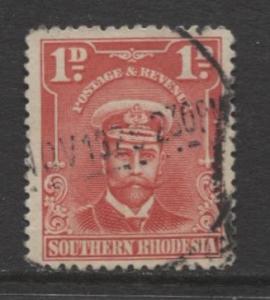 Southern Rhodesia- Scott 2 - KGV - Definitives  -1924 - FU - Single 1d Stamp