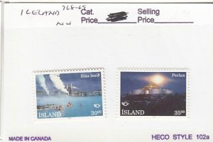 J25775  jlstamps 1993 iceland set mnh #768-9 views checked f/condition