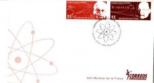 COSTA RICA YEAR of PHYSICS ALBERT EINSTEIN & MAX PLANCK Sc 585 FDC 2005