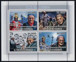 St Thomas & Principe 1959 MNH Sister Emmanuelle, Pope John Paul II, Benedict XVI