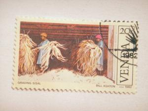 VENDA, 1982 20c CTO, Sisal Cultivation, Grading Sisal SG 57 value £ 0.30