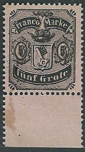 BREMEN GERMANY - an old forgery of a classic stamp - .......................1199