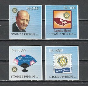 St. Thomas, 2004 issue. Rotary Anniversary with Paul Harris, IMPERF issue. *