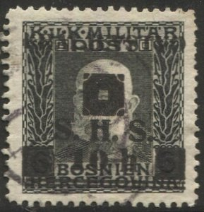 Yugoslavia  1919 Sc 1L27  Used  10h on 6h VF
