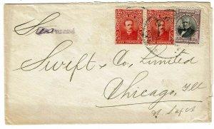 Bolivia 1917 cover to the U.S., sent via Panama