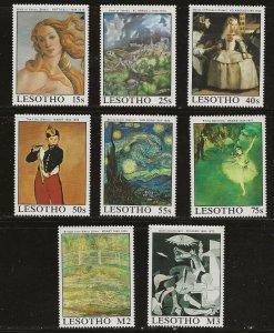Lesotho (1988)  - Scott # 660 - 667,  MNH