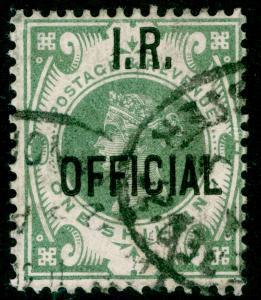 SGO15, 1s dull green, USED. Cat £325.